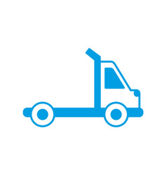 Town truck icon vector
