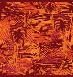 tropical natural grungy seamless pattern vector image