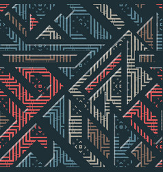 Urban geometric striped pattern vector