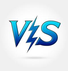 Versus icon vector