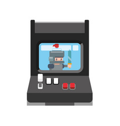 Videogame arcade machine vector