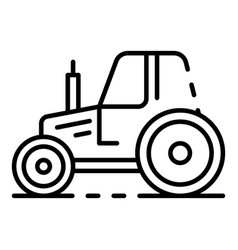 Village tractor icon outline style vector