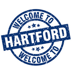 Welcome to hartford blue stamp vector
