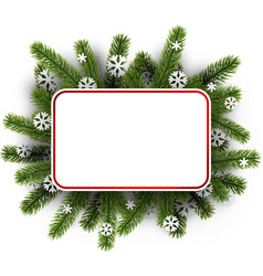white christmas background with spruce branches vector image