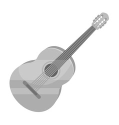 Yellow guitar hippy single icon in monochrome vector