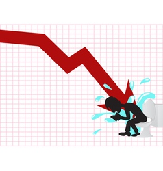 business crash vector image
