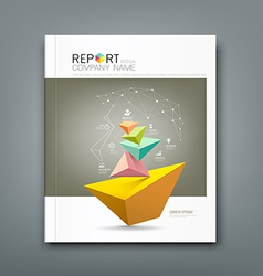 Cover Annual Report triangle connection vector image vector image