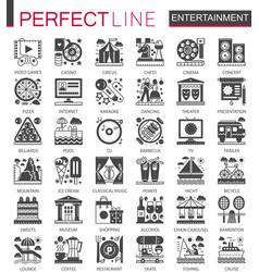 entertainment classic black mini concept symbols vector image