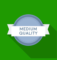 medium quality icon in flat style isolated on vector image