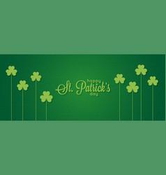 patricks day banner st patrick vintage lettering vector image