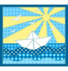 White ship vector image
