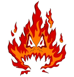 fire monster vector image vector image