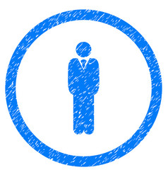 Manager rounded grainy icon vector