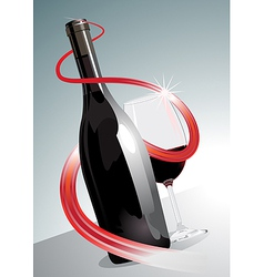 Premium or superior red wine vector image vector image