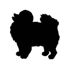 Silhouette of spitz isolated on white background vector