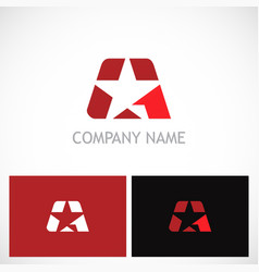 star letter a company logo vector image