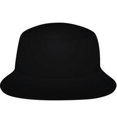 black fisherman hat vector image