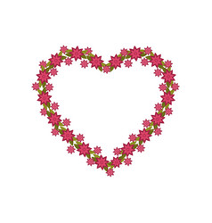 heart flowers decoration image vector image