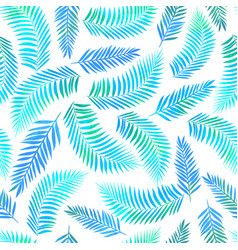 seamless tropical pattern with palm leaves vector image