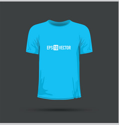 A blue t-shirt vector