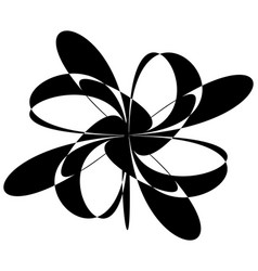 Abstract black and white spiral radial radiating vector