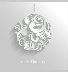 Abstract Floral Christmas Ball vector image