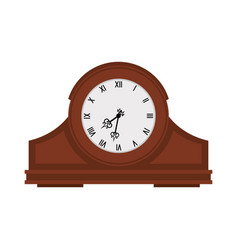 analog old wooden wall clock vector image