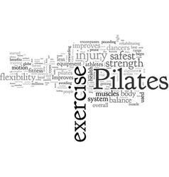 benefits pilates vector image