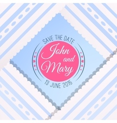 Blue background with vintage realistic pink blue vector
