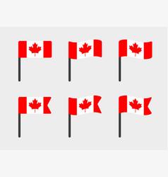 canada flag icons set canadian flag symbols vector image
