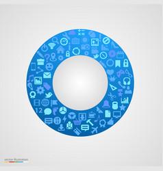 circle app icons vector image