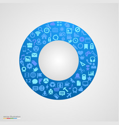 Circle of app icons vector