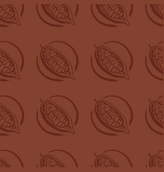 cocoa fruit seamless pattern vector image