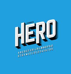 comics hero style font vector image