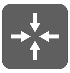 Compress Arrows Flat Squared Icon vector