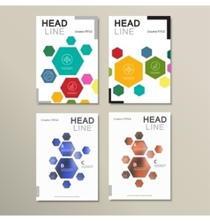 Design template abstract hexagonal shapes vector image vector image