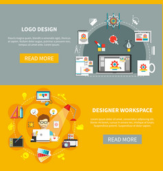 Designer tools banner set vector