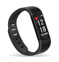Digital smart fitness watch bracelet with vector