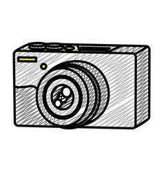 doodle professional digital camera technology vector image