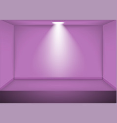 Empty pink room vector