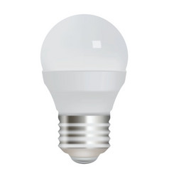 Energy saving light bulb on white background vector