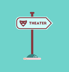 Flat icon on background theater sign vector