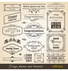 Flourish border corner and frame collection vector