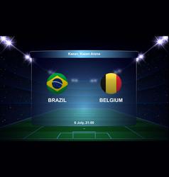 football scoreboard broadcast graphic soccer vector image