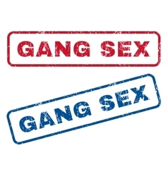 Gang Sex Rubber Stamps vector