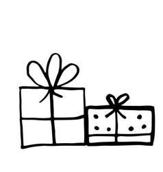 gift boxes set hand drawn vector image
