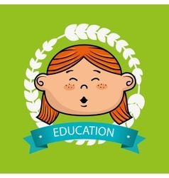 girl student graduation icon vector image