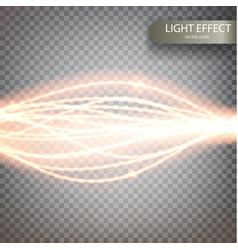 glitter magic sparkle swirl trail effect vector image