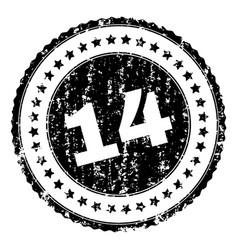 grunge textured 14 stamp seal vector image