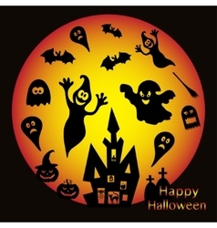 Holiday on theme of Halloween vector image